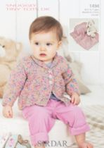Sirdar Snuggly Tiny Tots DK - 1494 Jacket and Blanket Knitting Pattern